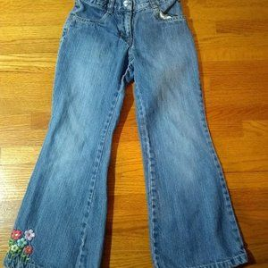Gymboree Blue Jeans with flowers